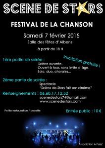 Affiche festival de la chanson